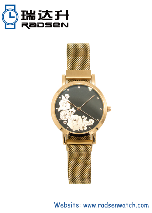 New Women Mesh Band Watch With UP Face