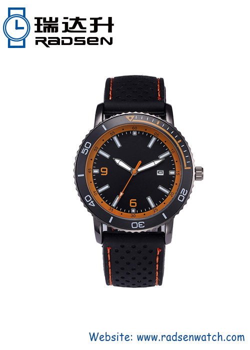 Vintage Men Watch With Silicone Strap