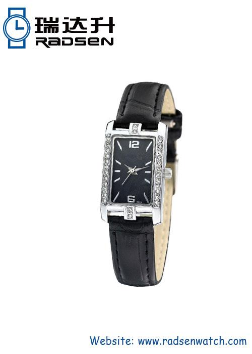 Lady Square Watch With Crystal