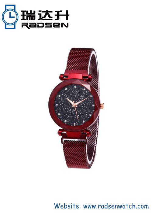 Magnetic Mesh Strap Women Watches