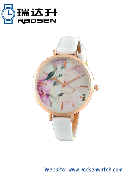 Women Watches With Flower Printing Dial