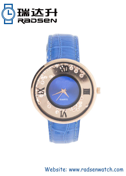 Floating Diamond Watches for Ladies with Stone on Watch Face