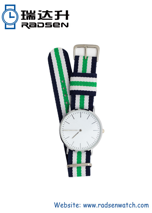 Online Fashion Lady Wrist Watches with Nylon Strap