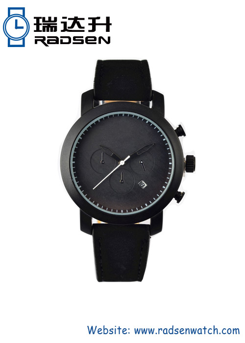 Fashionable All Black Watches for Women with Black Strap and Dial