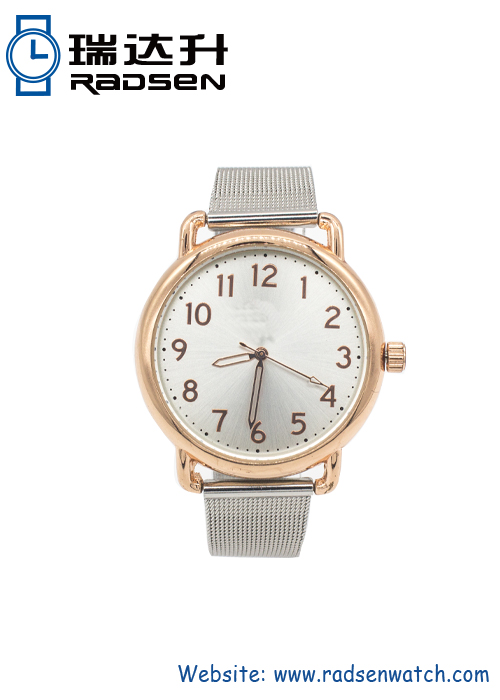 Fashionable Vintage Branded Watches for Women with Stainless Steel Mesh Strap