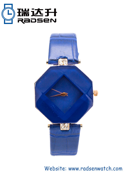 Unique Women Quartz Prism Leather Watches Unusual Ladies Style