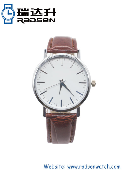 New Fashion Leather White Dial Watches for Men Women
