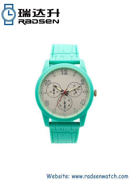 High Quality Mint Green Color Watches With Water Resistant