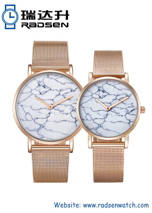 Rose Gold Pair Watches