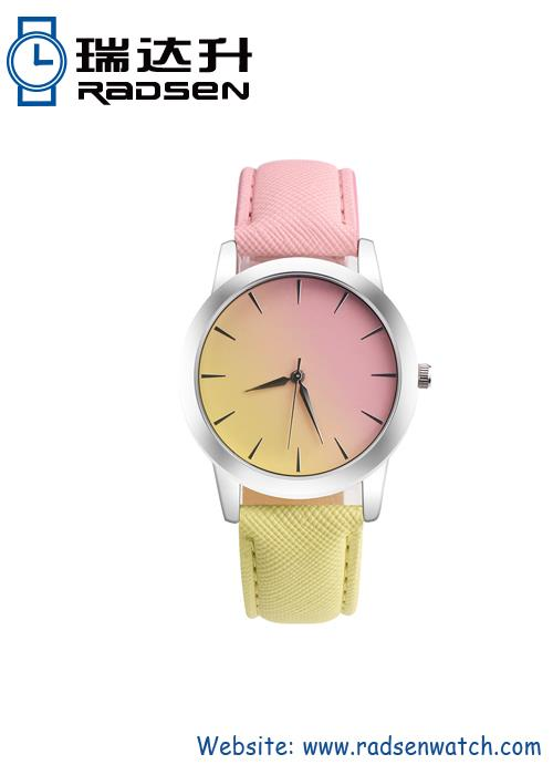 Two Color Band Cheap Watch For Unisex