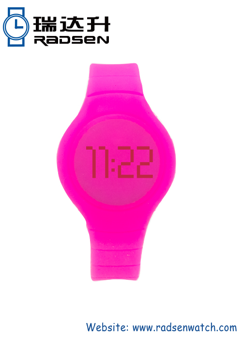 Wholesale LED Rubber Touch Wristband Watches Round Face