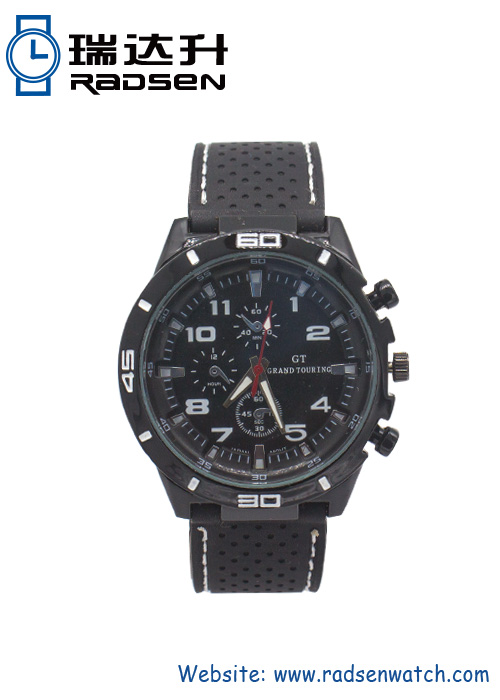 Best Sport Silicone Watches for Men Racing Style in Black Color
