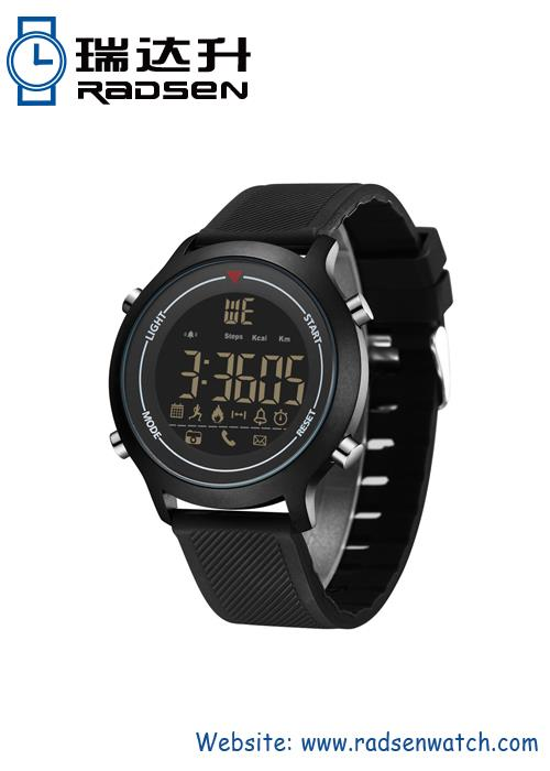 Reloj digital inteligente con acabado mate mate IP