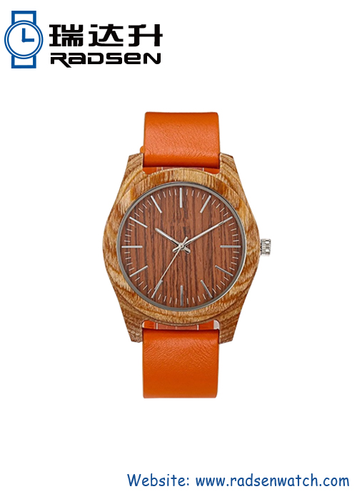 Red Strap Wooden Watches