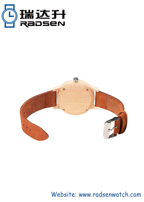 Leather Strap Wooden Watches