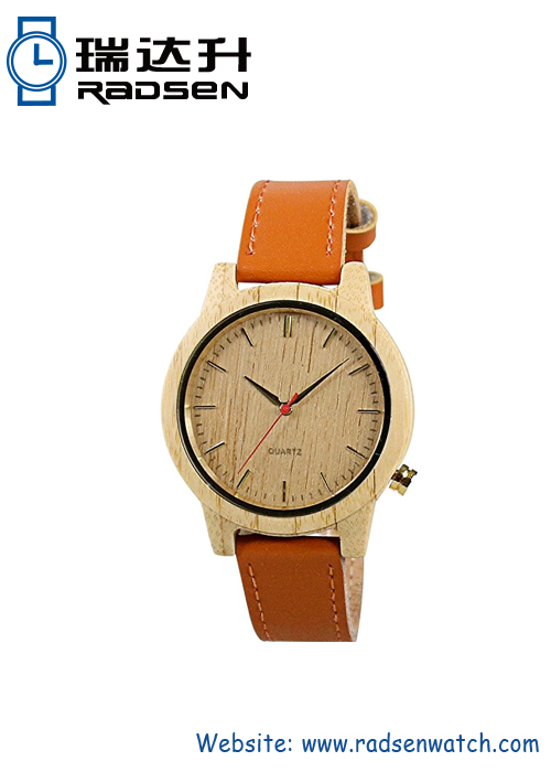 Wood Watch Leather Band
