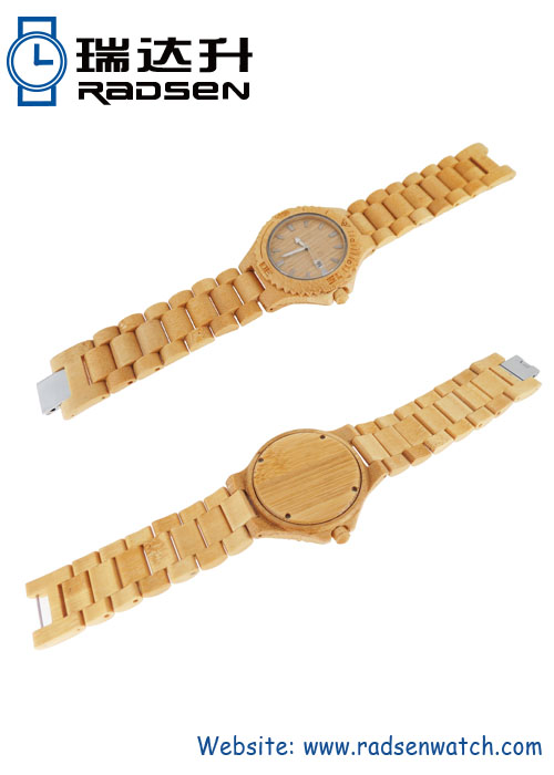 Natural Bamboo Watches with Wood Dial For Men with Bamboo Strap