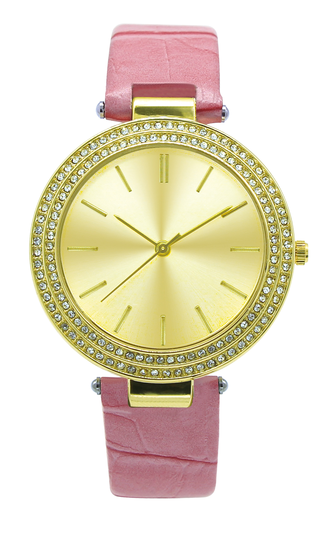 double row crystals women watches
