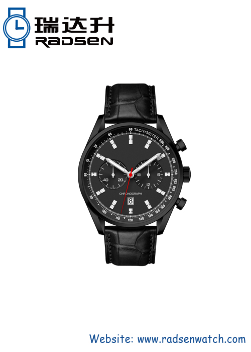 Chronograph face watches with date for men
